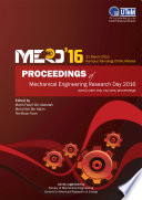 Proceedings of Mechanical Engineering Research Day 2016