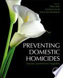 Preventing Domestic Homicides Book PDF