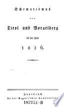 Schematismus der Provinz Tyrol und Vorarlberg für das Jahr