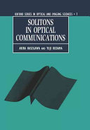 Solitons In Optical Communications : medium--are the most recent and...