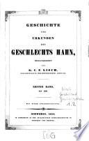 Geschichte und Urkunden des Geschlechtes Hahn