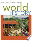 World History  Volume II  Since 1500