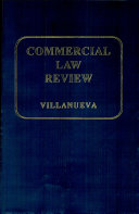 COMMERCIAL LAW REVIEWER' 2007 ED.