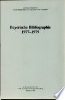 Bayerische Bibliographie. 1977-1979.