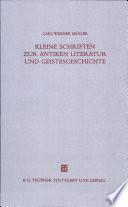 Kleine Schriften zur antiken Literatur und Geistesgeschichte