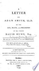 Ebook A Letter to Adam Smith ... on the Life, Death, and Philosophy of His Friend David Hume ... Epub George Horne Apps Read Mobile