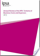 Annual review of the MPs  scheme of business costs and expenses 2012