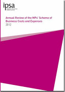 Annual review of the MPs' scheme of business costs and expenses 2012