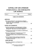 Loyola of Los Angeles international and comparative law journal