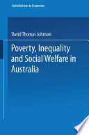 Poverty  Inequality and Social Welfare in Australia