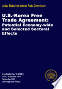 U S  Korea Free Trade Agreement  Potential Economy Wide and Selected Sectoral Effects  Inv  TA 2104 24
