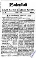 Wochenblatt für den Königlich-Bayerischen Gerichtsbezirk Zweibrücken