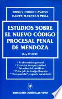 Estudios sobre el nuevo Código Proc. Penal de Mendoza