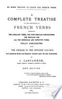 A Complete Treatise on the Conjugation of French Verbs