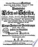 Nicol. Hieron. Gundlings ... Umständliches Leben und Schriften