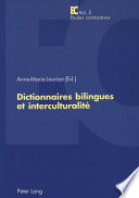 Dictionnaires bilingues et interculturalit