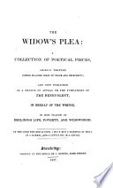 The widow s plea   a collection of poetical pieces  by mrs  Hammond