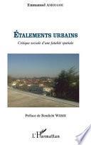 Etalements urbains