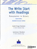 The write start with readings To Essays Is A Workbook Designed To