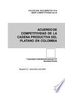 Acuerdo de competitividad de la cadena productiva del plátano en Colombia. No. 18