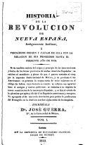 Historia de la revolución de Nueva España antiguamente Anáhuac