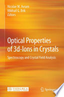 Optical Properties Of 3d Ions In Crystals : analysis