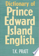Dictionary of Prince Edward Island English