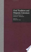Oral Tradition and Hispanic Literature