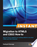 Instant Migration to Html5 and Css3 How To