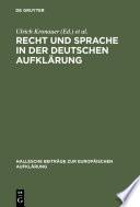 Recht und Sprache in der deutschen Aufklärung