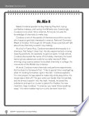 Test Prep Level 4: Mr. Mix-It Comprehension and Critical Thinking Skills By Responding To Follow Up Questions Study A