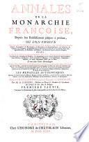 Annales de la Monarchie Fran  oise