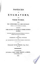 Notices of Engravers  and Their Works