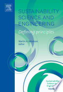 Sustainability Science and Engineering