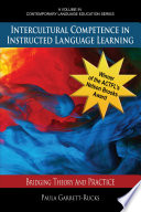 Intercultural Competence in Instructed Language Learning