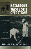 Hazardous Waste Site Operations