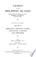 Census of the Phillipine Islands  1903