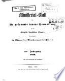Ministerial Blatt F R Die Gesammte Innere Verwaltung In Den K Niglich Preussischen Staaten