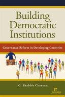 Building democratic institutions