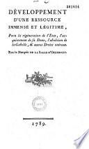 D Veloppement D Une Ressource Pour La R G N Ration De L Etat Par Le Marquis De La Salle D Offemont