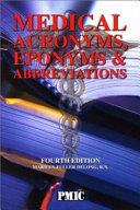 Medical Acronyms Eponyms Abbreviations