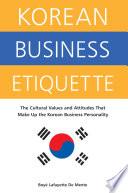 Korean Business Etiquette