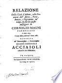 Relazione Della Citt   d Athene  colle Provincie dell Attica  Focia  Beozia  e Negroponte  ne tempi che furono queste passeggiate da Cornelio Magni L Anno 1674