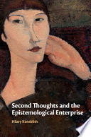Second Thoughts and the Epistemological Enterprise Book PDF