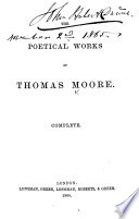 The Poetical Works of Thomas Moore  Etc   With a Portrait   Book PDF