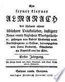 Friedrich Nicolais Volkslieder-Almanach, 1777-1778