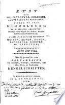 Naamlijst der geborene, gehuwde en overledene personen, aangegeven bij den burgerlijken stand der stad Middelburg