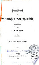 Handbuch der weltlichen Beredsamkeit