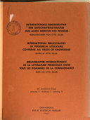 International bibliography of periodical literature covering all fields of knowledge