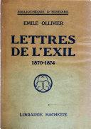Lettres de l'exil 1870-1874